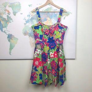 Beach Bash Art & Tatyana Floratina Dress Sz Large